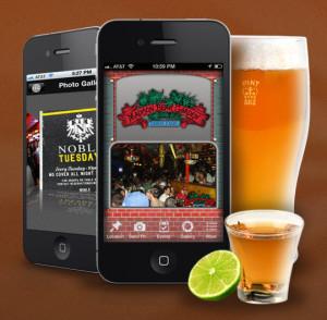 Phone app for bars